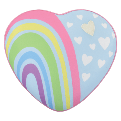 Picture of Rainbow Heart Scented Microbead Pillow