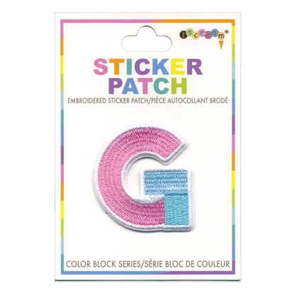Picture of G Initial Color Block Sticker Patch