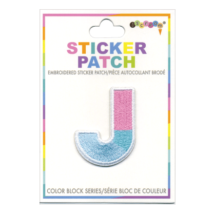 Picture of J Initial Color Block Sticker Patch