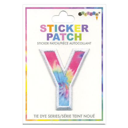 Picture of Y Initial Tie Dye Sticker Patch