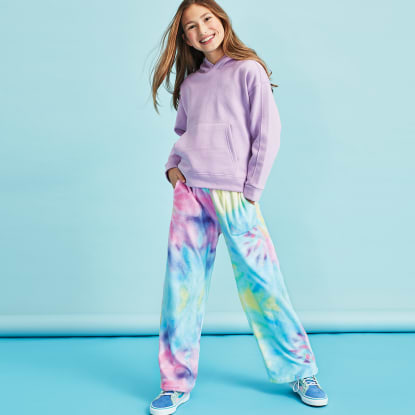 Picture of Pastel Tie Dye Plush Pants