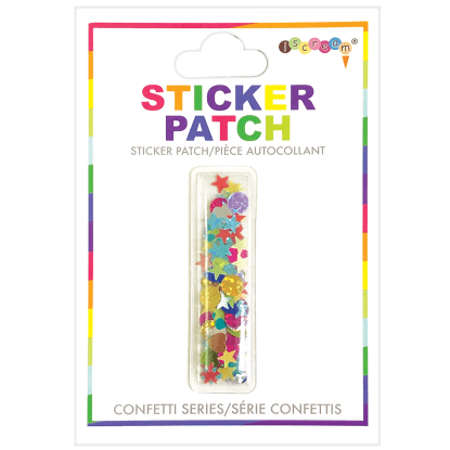 Picture of I Initial Confetti Sticker Patch
