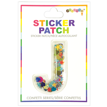 Picture of J Initial Confetti Sticker Patch