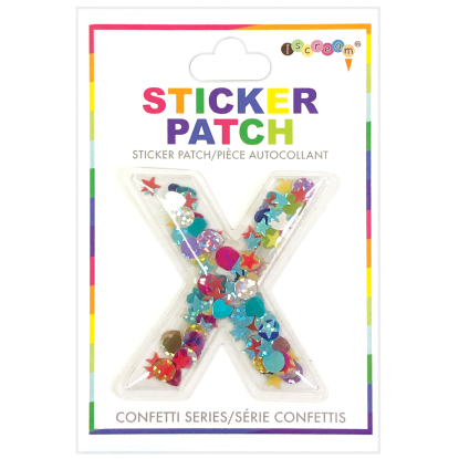 Picture of X Initial Confetti Sticker Patch