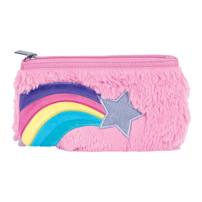 Picture of Rainbow Star Furry Pencil Case