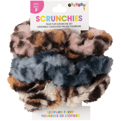 Picture of Leopard Furry Scrunchie Set
