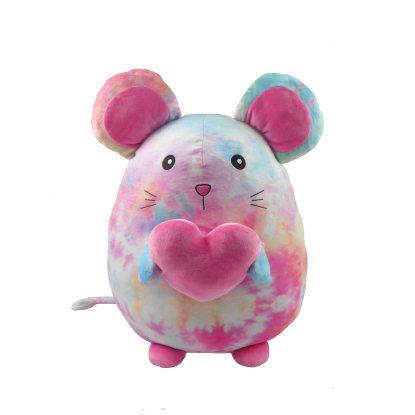 Picture of Cotton Candy Tie Dye Mouse Fleece Pillow