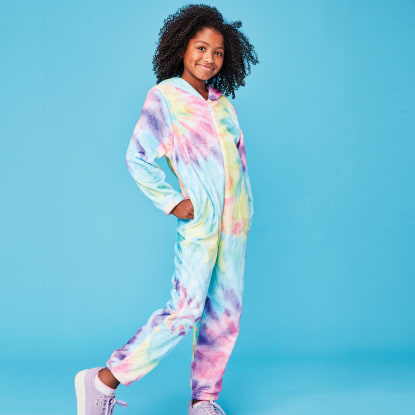 Picture of Pastel Tie Dye Plush Onesie