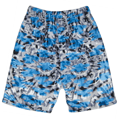 Picture of Blue Tie Dye Plush Shorts