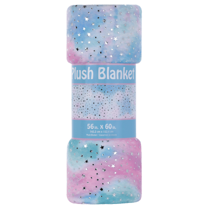 Picture of Silver Star Tie Dye Plush Blanket