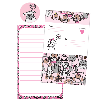 Picture of Puppy Love Foldover Cards