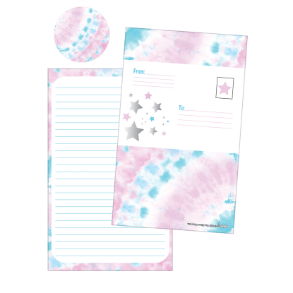Picture of Silver Star Tie Dye Foldover Cards