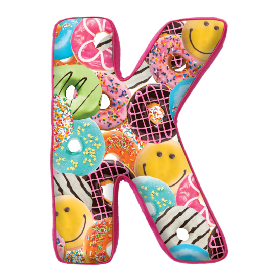 Picture of K Initial Microbead Pillow