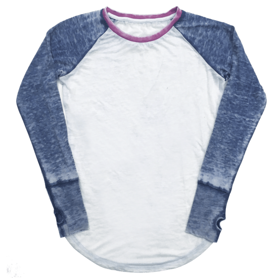 Picture of Burnout White/Blue Baseball Shirt