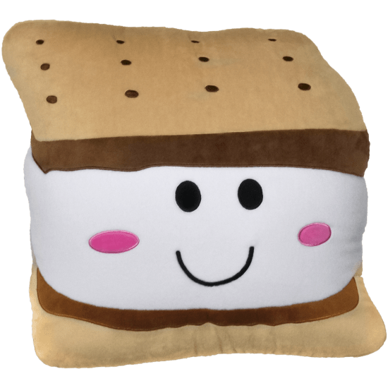 Picture of Smiley S'more Embroidered Pillow