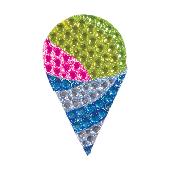 Picture of Snow Cone Rhinestone Decal