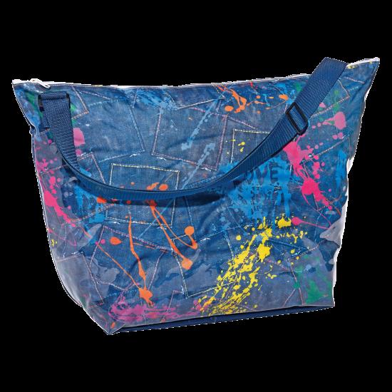 Picture of Paint Splatter Denim Weekender Bag