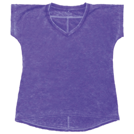 Picture of Burnout Purple High-Low T-Shirt