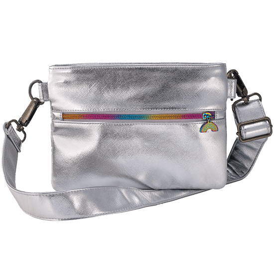 Silver Metallic Belt Bag
