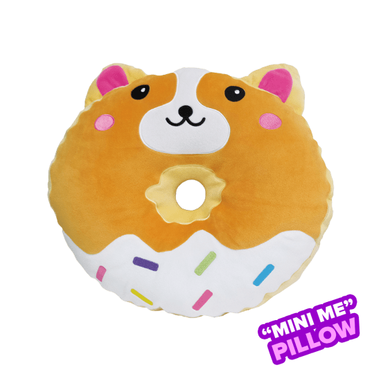 Picture of Mini Corgi Donut Scented Foodie Pillow