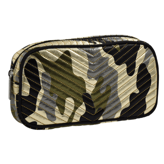 Picture of Metallic Camo Chevron Small Cosmetic Bag