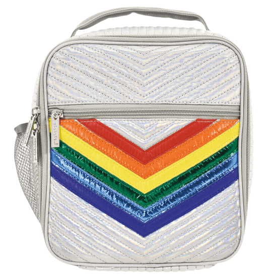 Picture of Silver Rainbow Chevron Lunch Tote