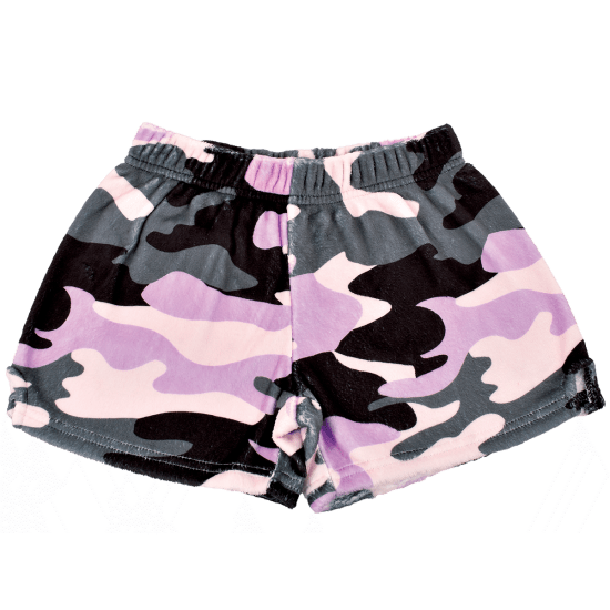 Picture of Purple Camo Plush Shorts