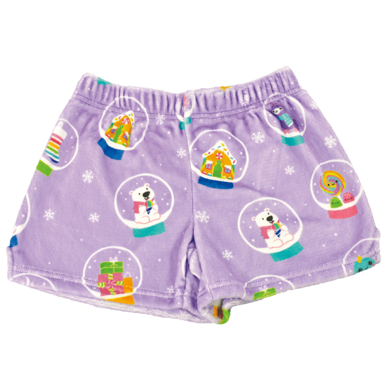 Picture of Holiday Snow Globes Plush Shorts