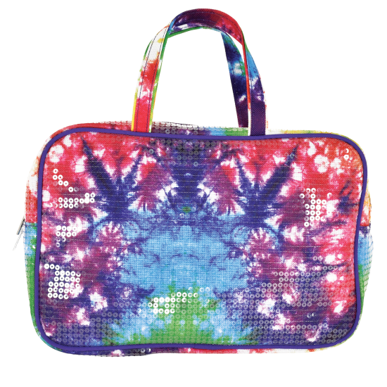 Picture of Sequin Tie Dye Large Cosmetic Bag