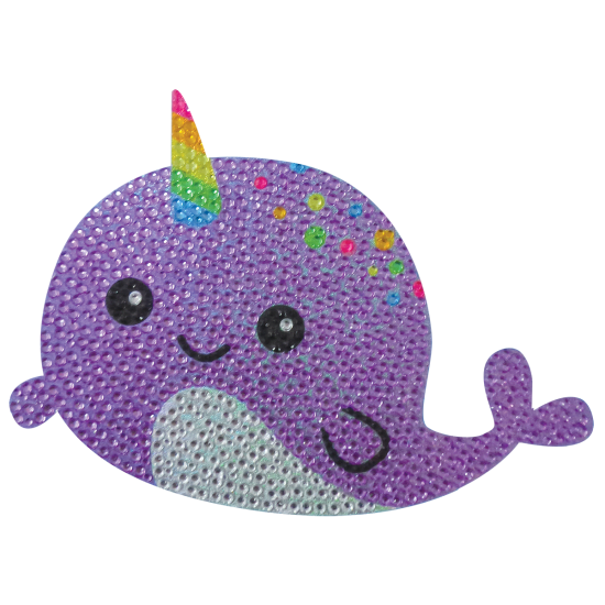 Picture of Narwhal Rhinestone Decal Large