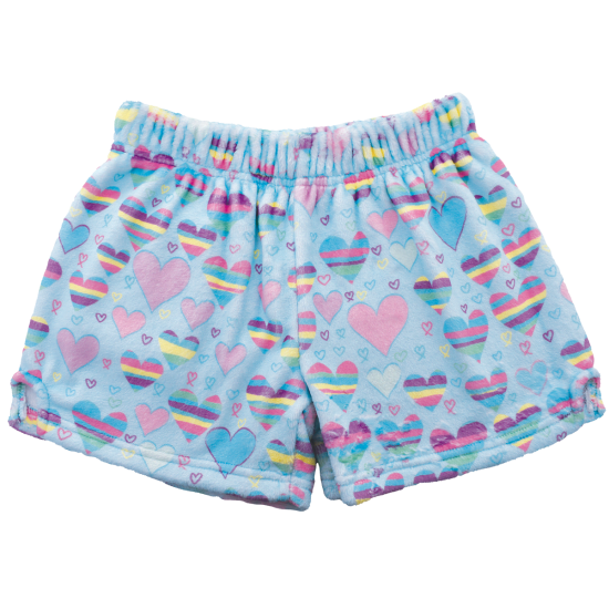Picture of Striped Hearts Plush Shorts