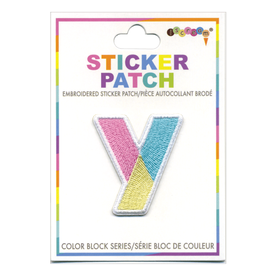 Picture of Y Initial Color Block Sticker Patch