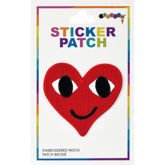 Picture of Smiley Heart Embroidered Sticker Patch