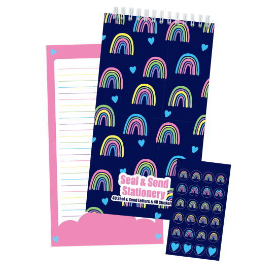 Picture of Rainbows and Hearts Seal & Send Stationery