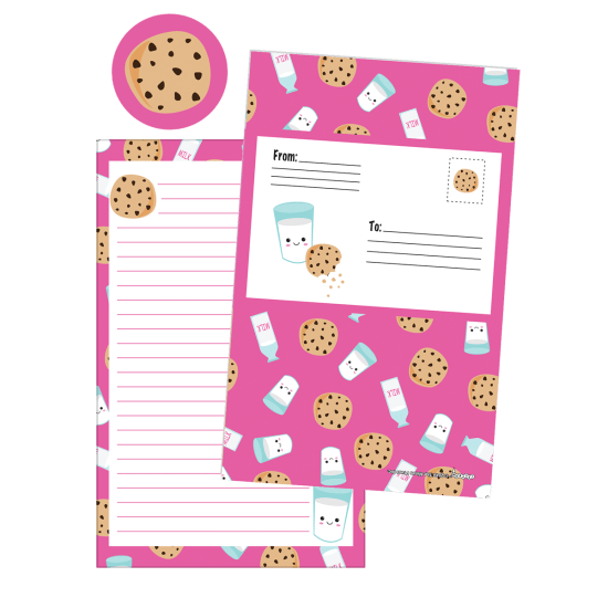 Picture of Milk and Cookies Foldover Cards