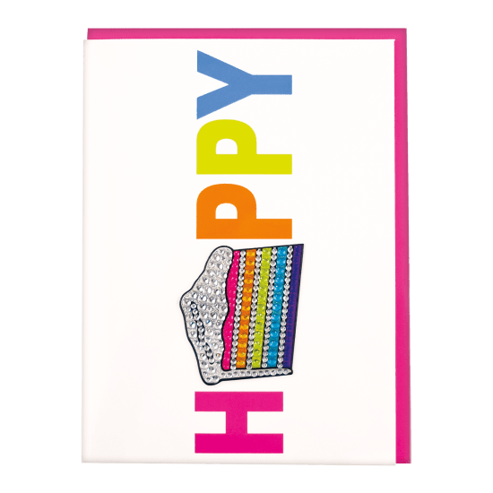 Picture of Slice of Cake Rhinestone Decal Greeting Card