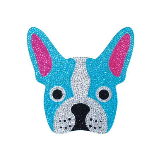 Picture of French Bulldog Rhinestone Decal Small