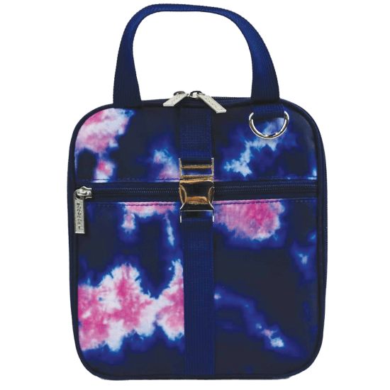 Picture of Indigo and Pink Tie Dye Lunch Tote