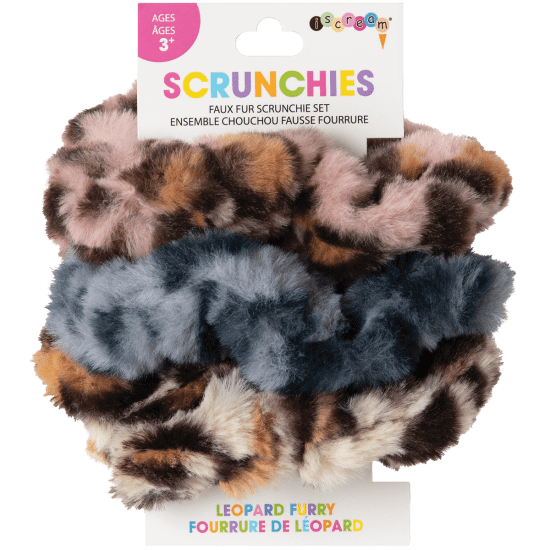 Picture of Leopard Furry Scrunchie Set