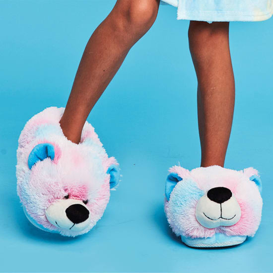 Picture of Pink and Blue Tie Dye Bear Slippers