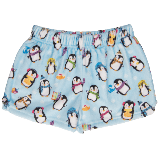 Picture of Hanukkah Penguins Plush Shorts