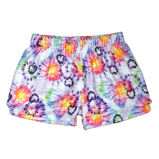 Picture of Heart Tie Dye Plush Shorts