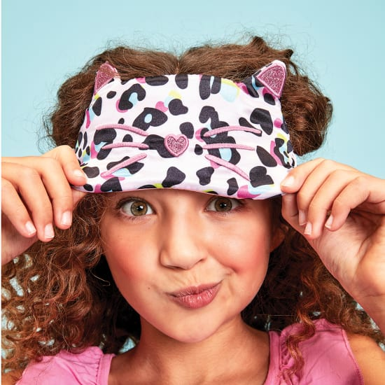 Picture of Pink Leopard Eye Mask and Scrunchie Set