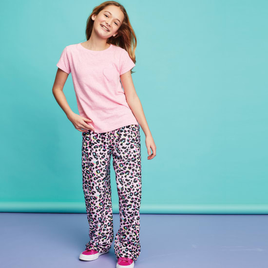 Picture of Pink Leopard Plush Pants