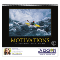 Picture of Motivations Wall Calendar - Spiral