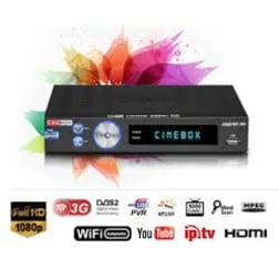 Receptor CINEBOX LEGEND DUO Full HD WIFI IPTV LED SKS IKS