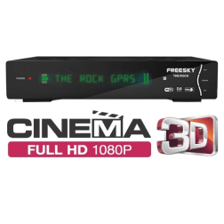 Freesky The Rock  Full HD 1080p SKS IKS GPRS IPTV 3D WIFI Satelite Cabo