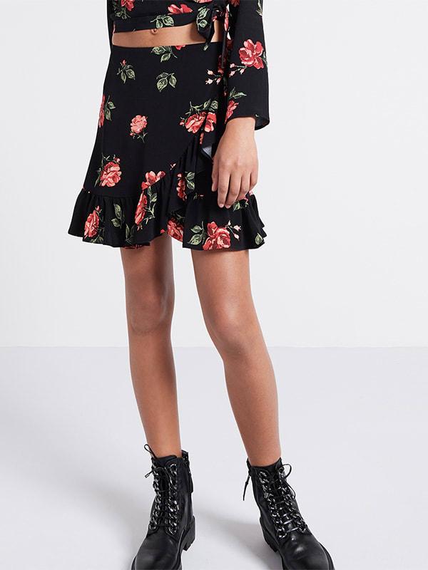 Lexi Floral Ruffle Mini Skirt