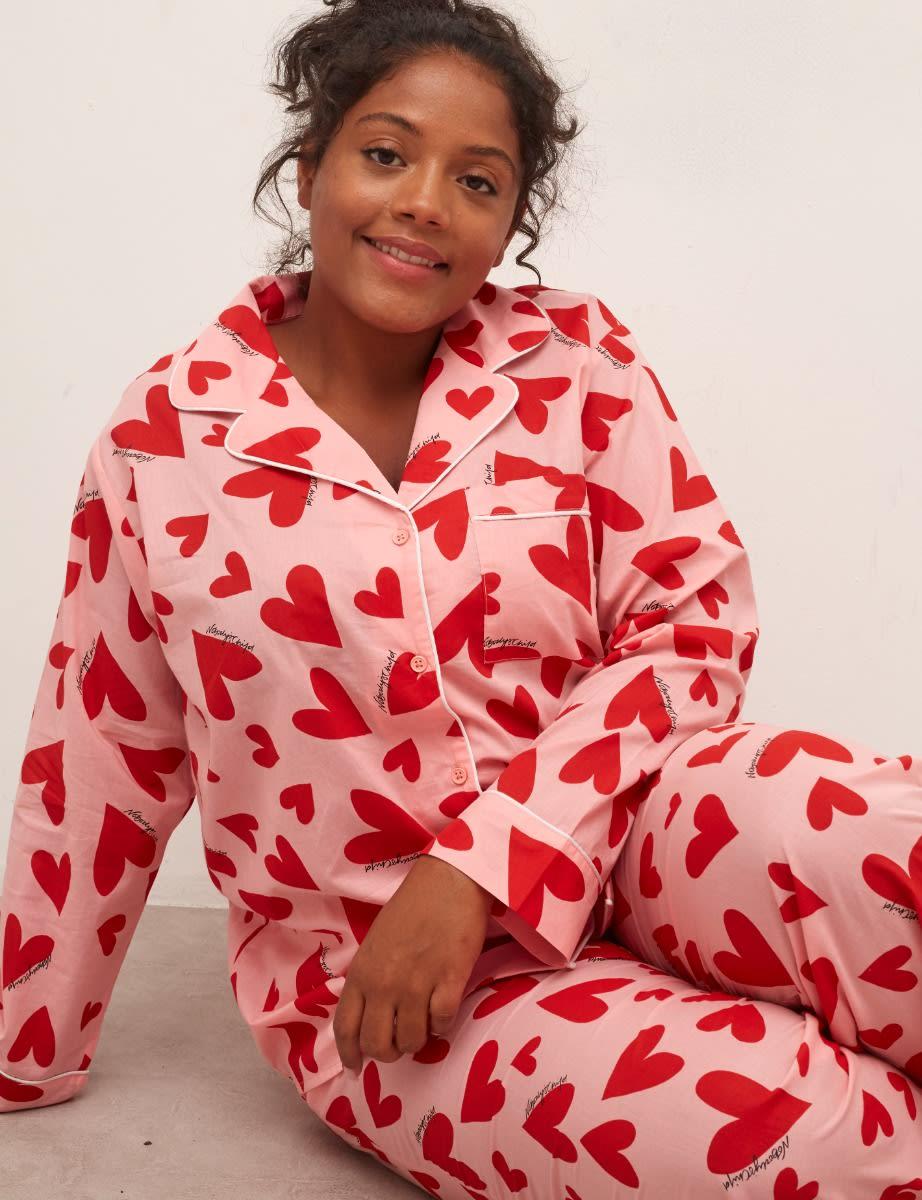 Martha Heart Curve Long Sleeve PJ Trouser Set