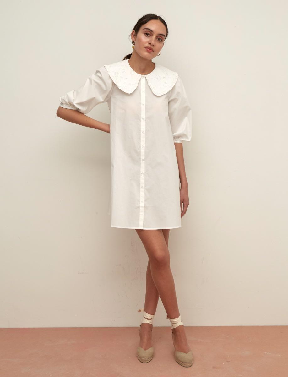 Polly Collared Smock Mini Dress